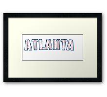 MLB City - Atlanta Framed Print