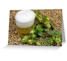 Beer, hops and malt Greeting Card