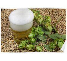 Beer, hops and malt Poster