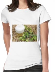 Beer, hops and malt Womens Fitted T-Shirt