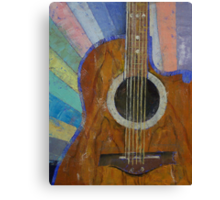 Guitar Sunshine Canvas Print