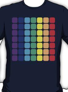 Vertical Rainbow Square - Light Background T-Shirt