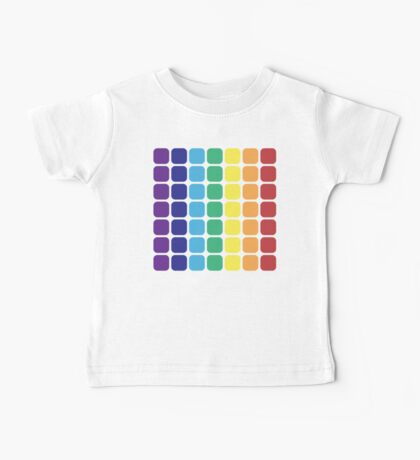 Vertical Rainbow Square - Light Background Baby Tee