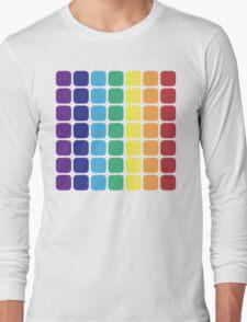 Vertical Rainbow Square - Light Background Long Sleeve T-Shirt