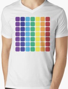 Vertical Rainbow Square - Light Background Mens V-Neck T-Shirt