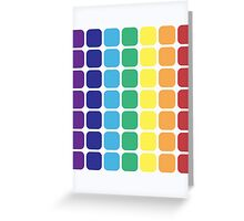 Vertical Rainbow Square - Light Background Greeting Card