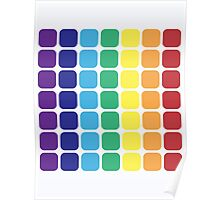 Vertical Rainbow Square - Light Background Poster