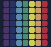 Vertical Rainbow Square - Dark Background by joshdbb