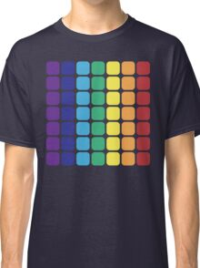 Vertical Rainbow Square - Dark Background Classic T-Shirt