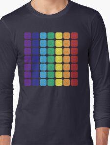 Vertical Rainbow Square - Dark Background Long Sleeve T-Shirt