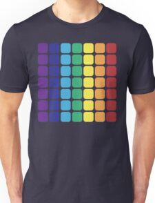 Vertical Rainbow Square - Dark Background Unisex T-Shirt