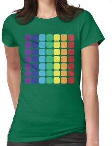 Vertical Rainbow Square - Dark Background Womens Fitted T-Shirt