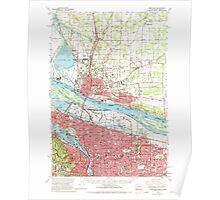 USGS Topo Map Oregon Portland 282802 1961 62500 Poster