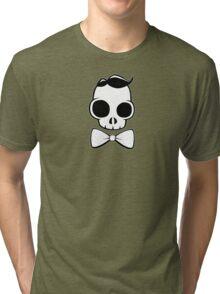 Skull Classy Bow Tie Tri-blend T-Shirt