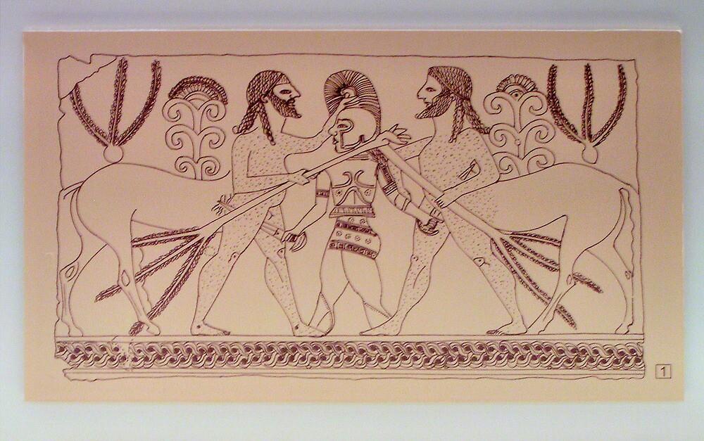 5th Century Bronze Cladding Illustration by Christopher Biggs