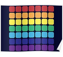 Rainbow Square - Dark Background Poster
