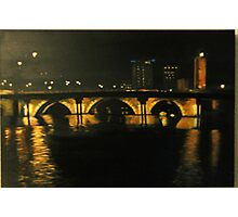 bristol bridge at night Photographic Print