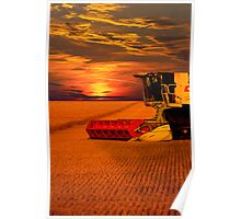 Norfolk Harvest Summer Sunset  Poster