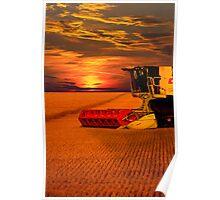Norfolk Harvest Summer Sunset  Poster