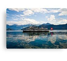 Swiss Ferry on Lake Zug Canvas Print