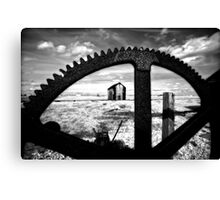Cog and shed Canvas Print