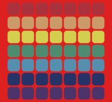 Rainbow Square - Light Background Kids Tee