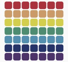 Rainbow Square - Light Background Kids Clothes