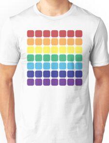 Rainbow Square - Light Background Unisex T-Shirt