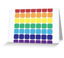 Rainbow Square - Light Background Greeting Card