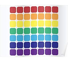 Rainbow Square - Light Background Poster
