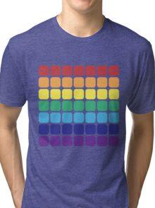 Rainbow Square - Dark Background Tri-blend T-Shirt