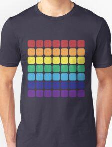 Rainbow Square - Dark Background Unisex T-Shirt