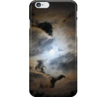 The Moon Behind Clouds iPhone Case/Skin