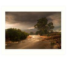 Winding river through Elandsvlei Art Print
