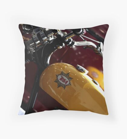 1959 BSA C15 250cc Trials Motorcycle Throw Pillow