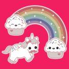 Cute Cupcake Unicorn by sugarhai
