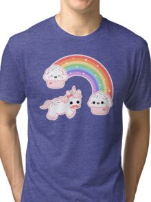 Cute Cupcake Unicorn Tri-blend T-Shirt