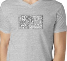 Palenque mayan astronaut Mens V-Neck T-Shirt