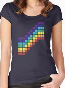 Rainbow Staircase Women's Fitted Scoop T-Shirt