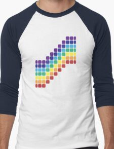 Rainbow Staircase Men's Baseball ¾ T-Shirt