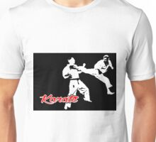 Karate Jumping Back Kick Black  Unisex T-Shirt