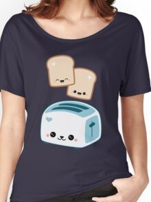 Happy Flying Toast Twins Women's Relaxed Fit T-Shirt