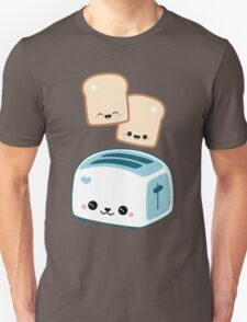 Happy Flying Toast Twins Unisex T-Shirt