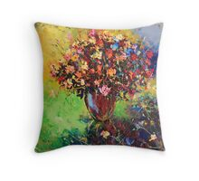 Provincial bouquet of flowers  Throw Pillow