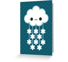 Cute Snow Cloud Greeting Card