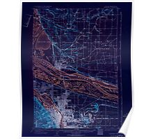 USGS Topo Map Oregon Portland 282798 1905 62500 Inverted Poster