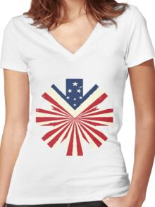 American Red Hot Chili Peppers Women's Fitted V-Neck T-Shirt