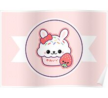 Cute Bunny Cake Poster