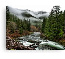 Winters Joy ~ Quartzville Creek Winter ~ Canvas Print