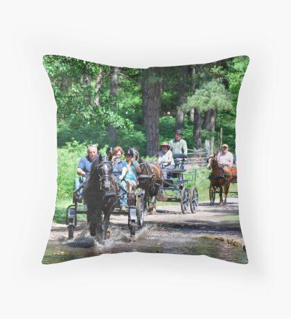 Horses and Buggies Throw Pillow